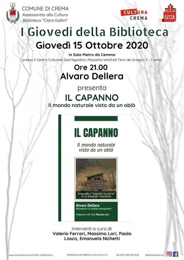 Crema Continua la rassegna I Giovedì della Biblioteca…. al Museo Giovedì 15/10 con Alvaro Dellera