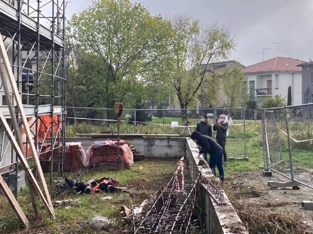 CREMA- GIALLO DEI SABBIONI: LA CADUTA DI MAURO PAMIRO SIMULATA CON UN MANICHINO- FOTO E VIDEO