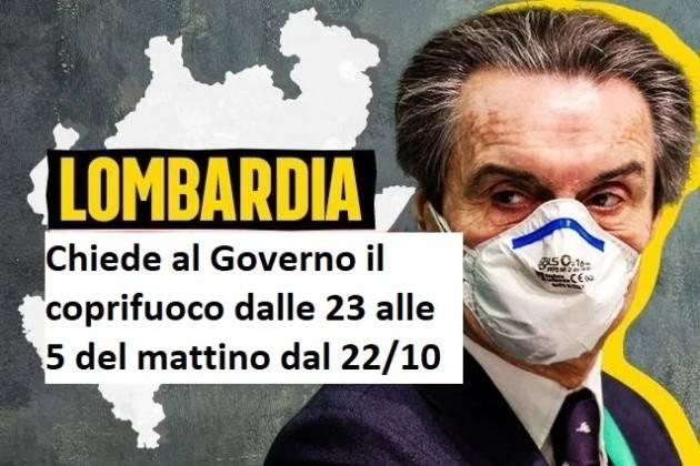 NewsLomb  Covid Lombardia chiede  il coprifuoco dalle 23 alle 5 del mattino dal 22/10
