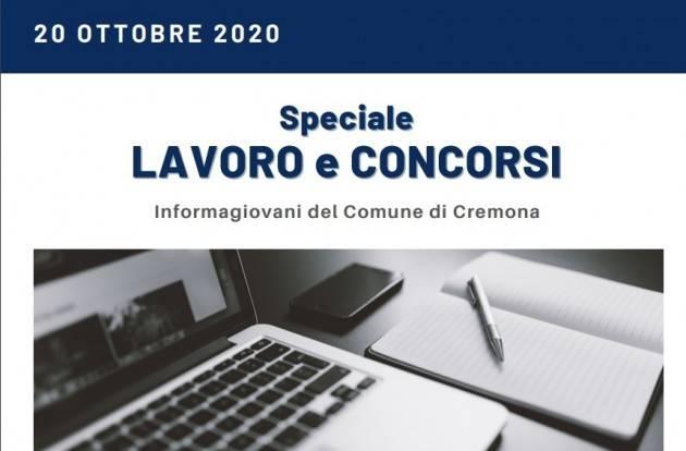 Informa Giovani Cremona SPECIALE LAVORO E CONCORSI del 20 ottobre 2020