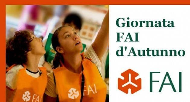 FAI Appuntamento con il secondo weekend  24 e 25 ottobre delle GIORNATE FAI D'AUTUNNO
