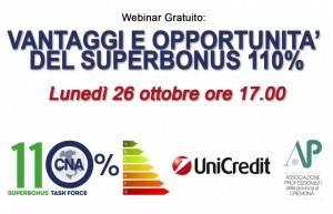 CNA Cremona Webinar Gratuito: VANTAGGI E OPPORTUNITA' DEL SUPERBONUS 110%