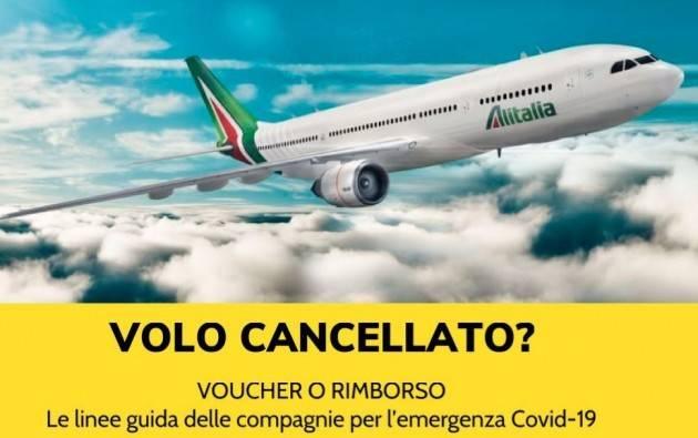 Codacons CREMONA: ANTITRUST, COMPAGNIE AEREE CEDONO E OFFRONO ANCHE IL RIMBORSO DEI VOLI IN ALTERNATIVA AL VOUCHER!!!