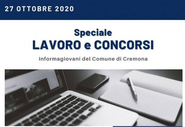 Informa Giovani Cremona SPECIALE LAVORO E CONCORSI del 27 ottobre 2020
