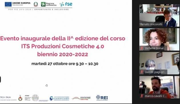 ITS Produzioni Cosmetiche 4.0: al via le lezioni della seconda edizione