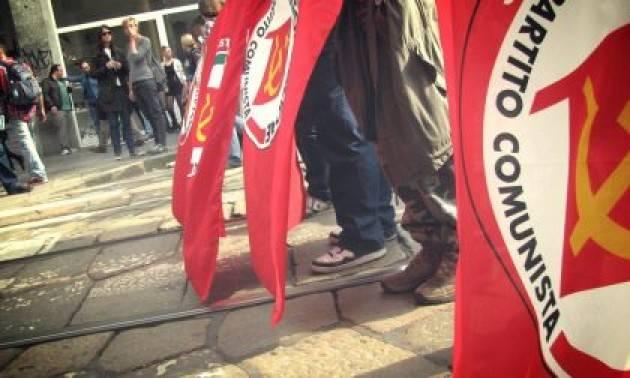 Rif.Comunista Cremona Covid 2° ondata il 31 ottobre davanti all'ospedale dalle ore 10,30