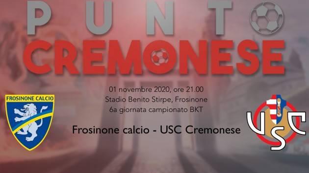 PUNTO CREMONESE:stasera la Cremo torna a Frosinone, dove il 7 marzo scorso Bisoli esordi' con una vittoria