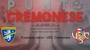 PUNTO CREMONESE: domani la Cremo torna a Frosinone, dove il 7 marzo scorso Bisoli esordi' con una vittoria
