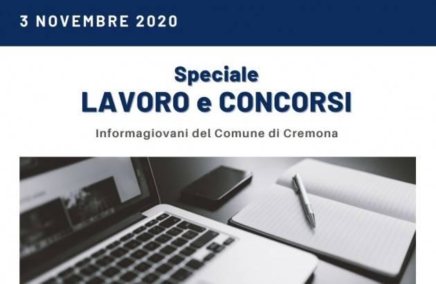 Informa Giovani Cremona SPECIALE LAVORO E CONCORSI del  3 novembre 2020