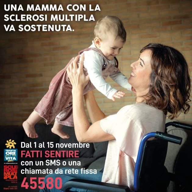 Una mamma con la sclerosi multipla (SM) va sostenuta.