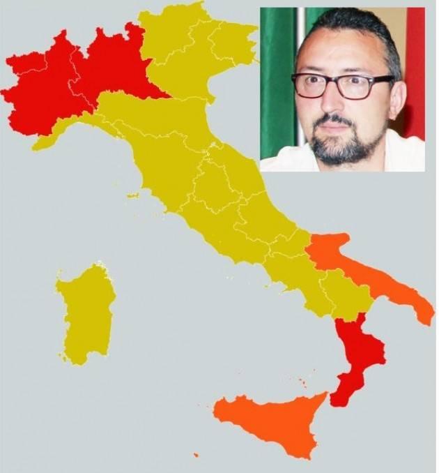 Matteo Piloni (Pd) Suddivisione in 3 zone fatta su base di 21 indicatori individuati  Governo aprile scorso. Non ieri.