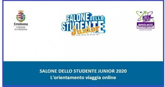 Cremona SALONE DELLO STUDENTE JUINOR 2020: L'ORIENTAMENTO VIAGGIA ONLINE