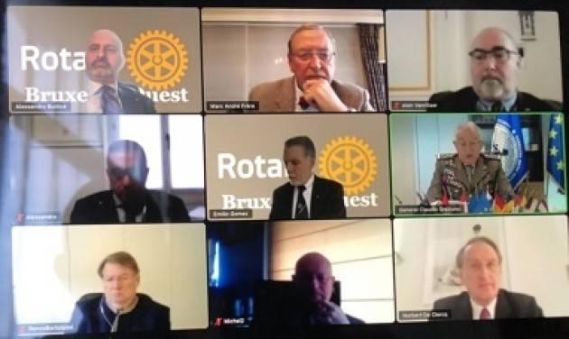 """IL GENERALE GRAZIANO OSPITE DEL ROTARY CLUB DI BRUXELLES OVEST: """"LA DIFESA UE HA BISOGNO DEL SOSTEGNO DEGLI STATI"""""""