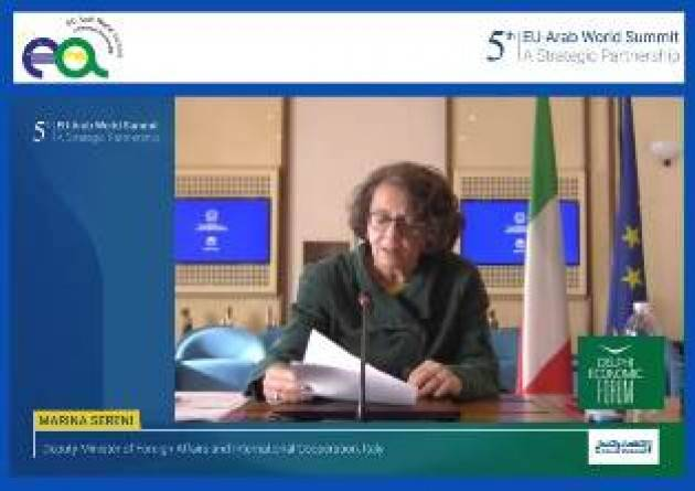 SERENI: IL MEDITERRANEO È UNA PRIORITÀ STRATEGICA PER L'ITALIA E L'UE