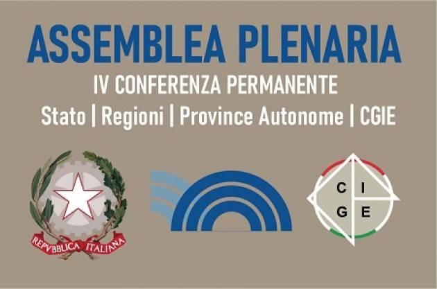 NELLA PRIMAVERA 2021 LA CONFERENZA PERMANENTE STATO-REGIONI-PROVINCE AUTONOME-CGIE