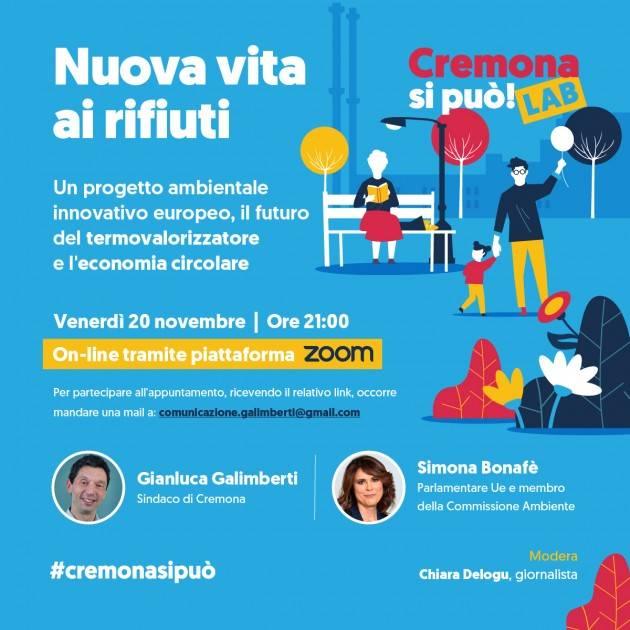 Cremona si può, venerdì 20 novembre incontro sui rifiuti con l'eurodeputata Simona Bonafè