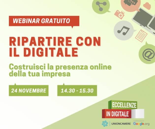 Cremona Camera Commercio  webinar Eccellenze in Digitale - 24 novembre 2020