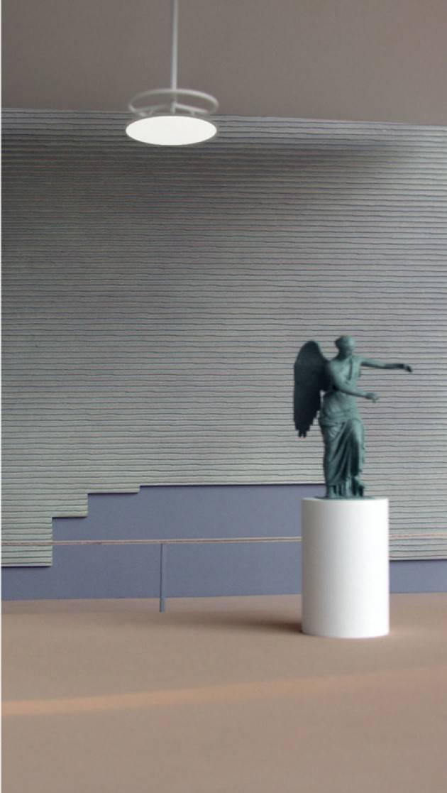 Topolino celebra il restauro della Vittoria Alata