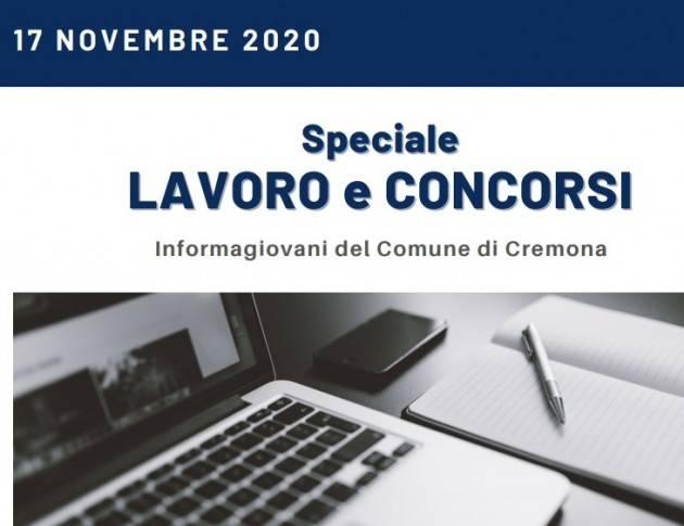 Informa Giovani Cremona SPECIALE LAVORO E CONCORSI del  17 novembre 2020