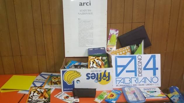 Crema San Bernardino Arci Solidale Fornitura materiale scolastico  a famiglie in difficoltà.
