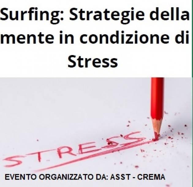 ASST Crema Ospedale Surfing: Strategie della mente in condizione di Stress
