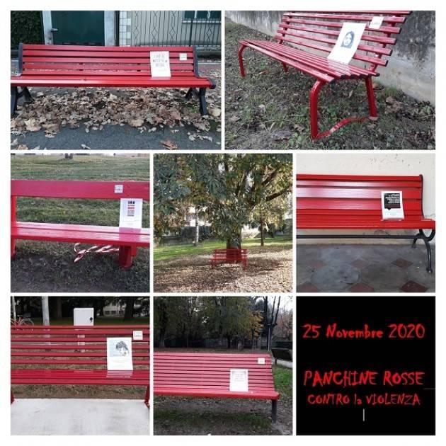 CREMA 25 novembre: 60 panchine rosse per dire  STOP alla violenza sulle donne