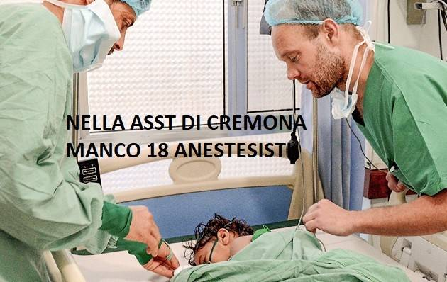 ASST Cremona Era Covid  Appello di Rosario Canino Non ce la facciamo più ci mancano 18 anestesisti . Serve aiuto