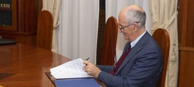 Gabrielli firma Memorandum con il Montenegro