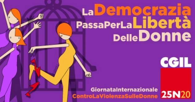 25 novembre: Cgil, la democrazia passa per la libertà delle donne