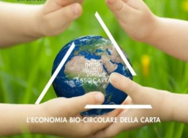 Il 57% dell'intera produzione di carta italiana proviene da fibre riciclate