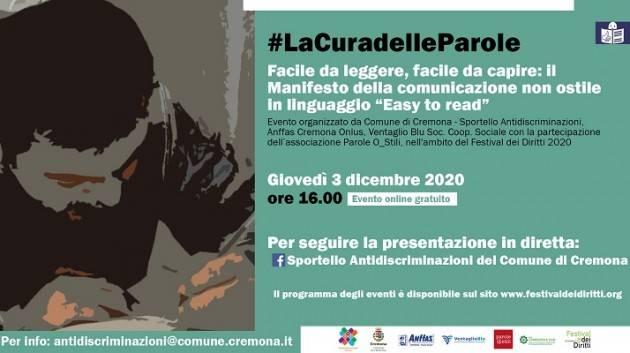 Cremona Il Manifesto della comunicazione non ostile in linguaggio 'Easy to Read'
