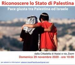 Diretta web da Assisi  il 29/11 per  il riconoscimento dello Stato di Palestina