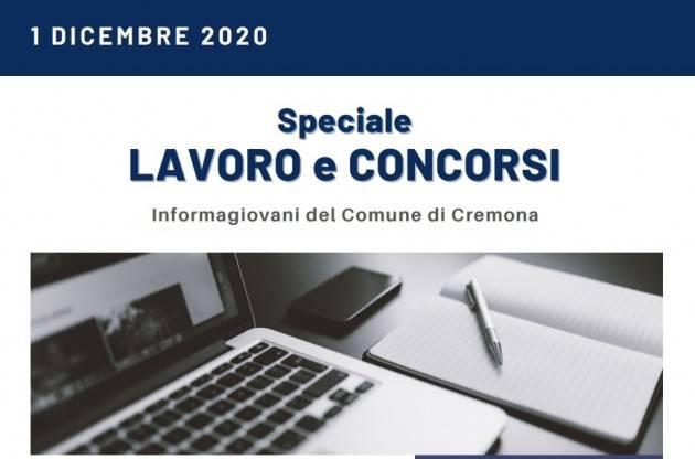 Informa Giovani Cremona SPECIALE LAVORO E CONCORSI del 1 dicembre 2020