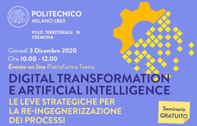 Digital Transformation e Artificial Intelligence oggi al Campus di Cremona