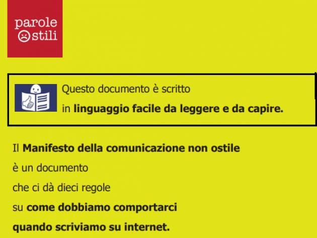 Presentato dal Comune di Cremona il Manifesto della comunicazione non ostile in linguaggio 'Easy to Read'