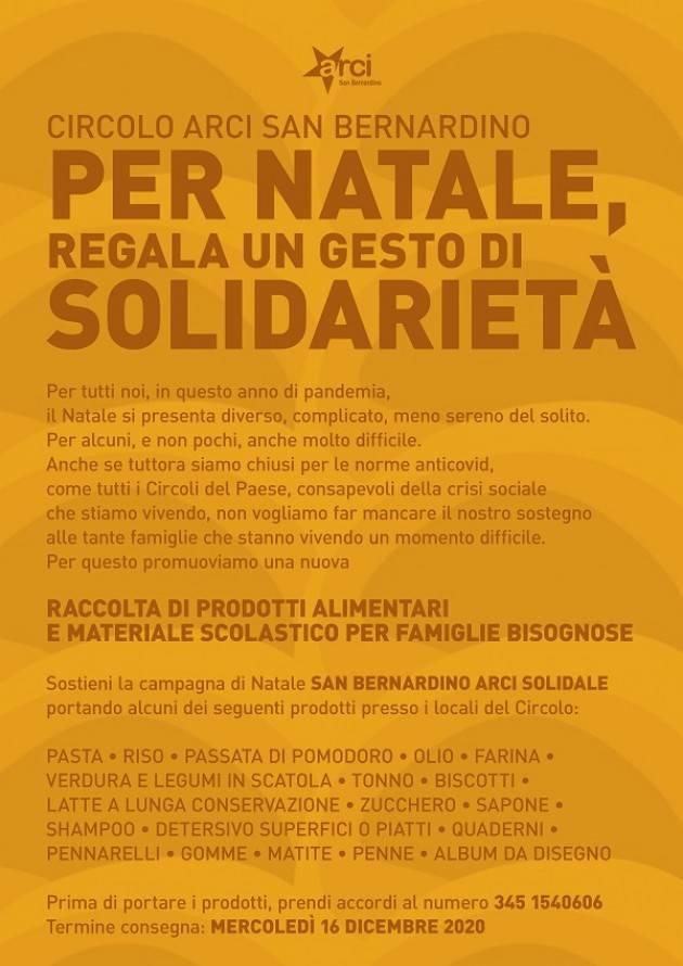 Arci San Benardino Crema promuove l'iniziativa 'Per Natale, regala gesto solidale'