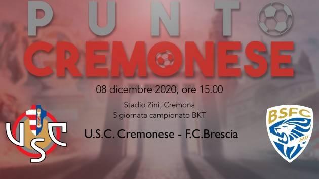 PUNTO CREMONESE: domani alle 15.00 i grigiorossi di nuovo in campo allo Zini nel derby con il Brescia