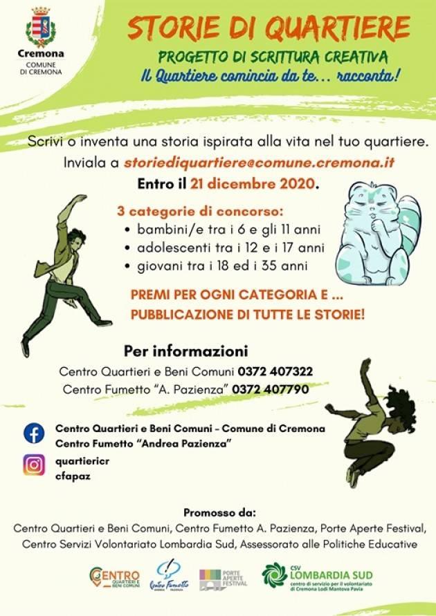 Cremona Centro Quartieri   Inviate le vostre storie entro il 21 dicembre