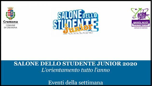 Cremona IL SALONE STUDENTE JUNIOR ENTRA NEL VIVO: GLI APPUNTAMENTI SETTIMANA