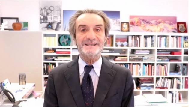 Covid -19   Attilio  Fontana: domenica 13 dicembre Lombardia zona gialla (Video)