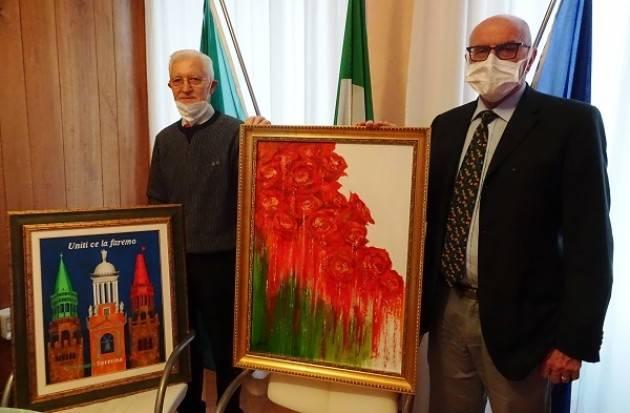ASST CREMONA Roberto Dellanoce dona due dipinti all'Ospedale di Cremona