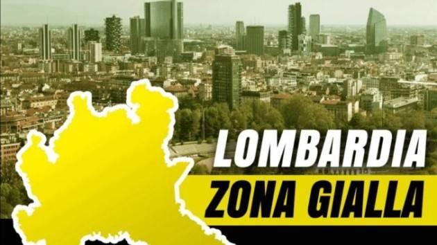 Matteo Piloni (Pd) Da DOMENICA 13 DICEMBRE la Lombardia sarà ZONA GIALLA Ma non è liberi tutti