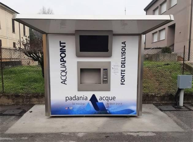 Padania Acque SpA È attiva la nuova casa dell'acqua del Comune di Moscazzano