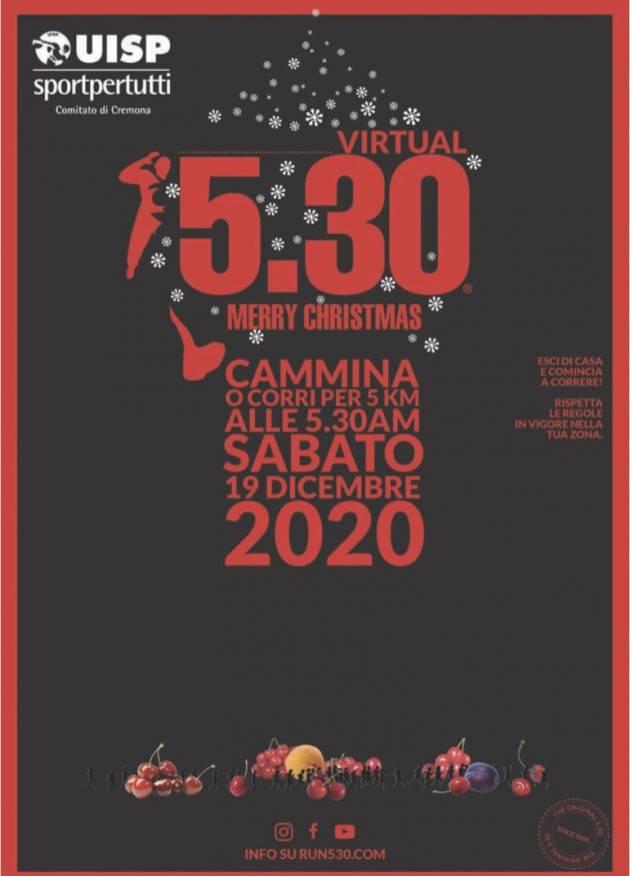 Con UISP Cremona 5.30 Virtual Sabato 19 Dicembre