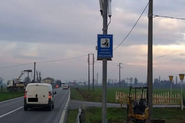 Provincia Cremona dal 23 dicembre nuovo impianto rilevazione velocità a Soncino