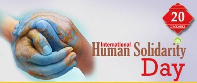 CNDDU Oggi, 20 dicembre si celebra International Human Solidarity Day