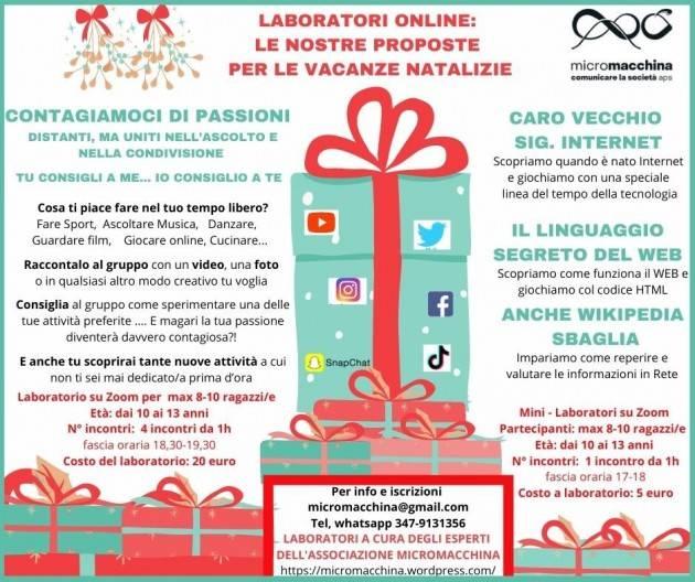 Mantova  NATALE 4 laboratori online ragazzi (9-13 anni)LA TECNOLOGIA CHE FA BENE