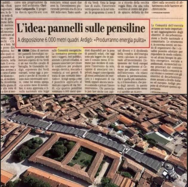Gianemilio Ardigo' (Crema) : Idea pannelli solari sulle pensiline