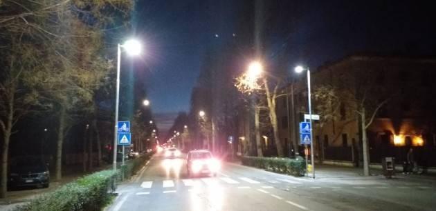 Cremona Ultimato l'intervento di potenziamento dell'illuminazione in viale Po