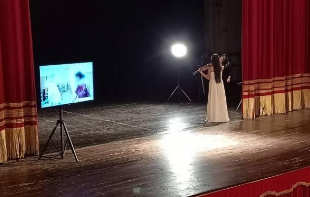 Cremona LENA YOKOYAMA SUONA IN  STREAMING  DAL PONCHIELLI PER  TV GIAPPONESE